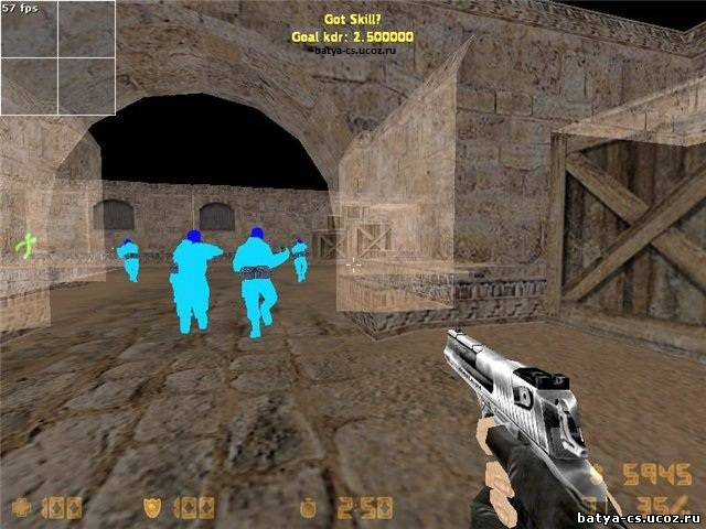 aim аим + wallhack вх wh для cs 1.6
