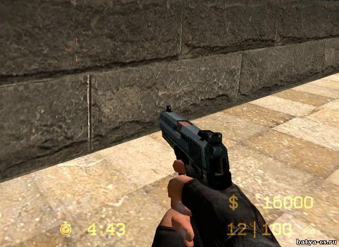 Модель черного пистолета USP для CSS