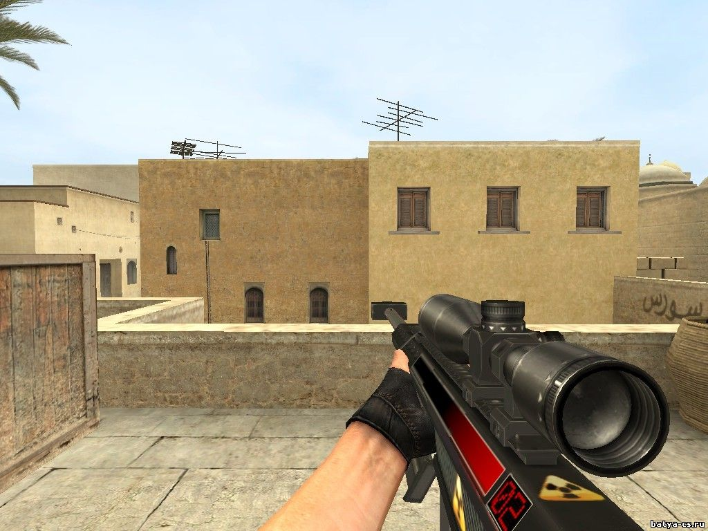 Футуристичная модель снайперки AWP для CSS - GGN40 Skullsmasher